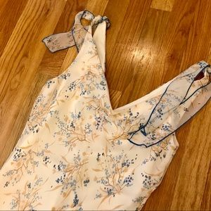 Speechless floral slip dress shoulder ties